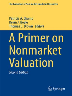 cover image of A Primer on Nonmarket Valuation