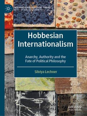 cover image of Hobbesian Internationalism