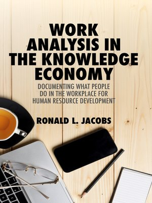cover image of Work Analysis in the Knowledge Economy