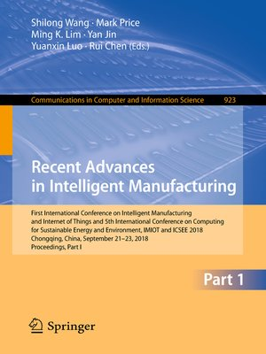 cover image of Recent Advances in Intelligent Manufacturing