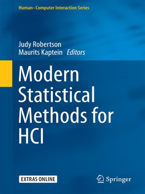 cover image of Modern Statistical Methods for HCI