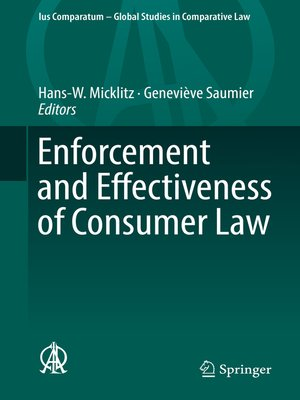 cover image of Enforcement and Effectiveness of Consumer Law
