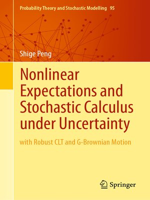cover image of Nonlinear Expectations and Stochastic Calculus under Uncertainty