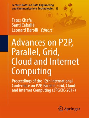 cover image of Advances on P2P, Parallel, Grid, Cloud and Internet Computing