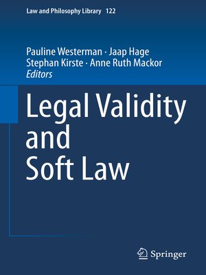 cover image of Legal Validity and Soft Law