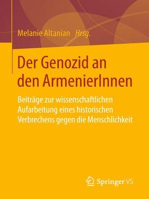 cover image of Der Genozid an den ArmenierInnen