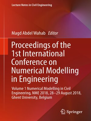 cover image of Proceedings of the 1st International Conference on Numerical Modelling in Engineering