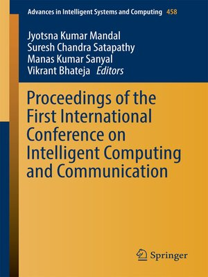 cover image of Proceedings of the First International Conference on Intelligent Computing and Communication