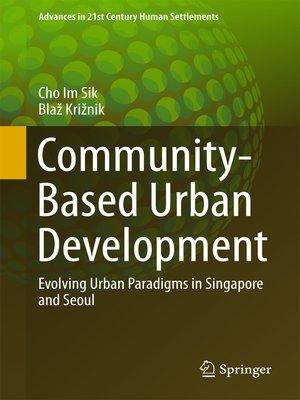 cover image of Community-Based Urban Development