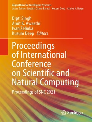 cover image of Proceedings of International Conference on Scientific and Natural Computing