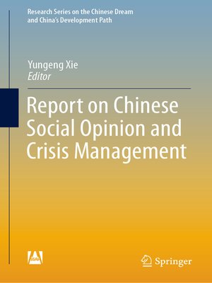 cover image of Report on Chinese Social Opinion and Crisis Management