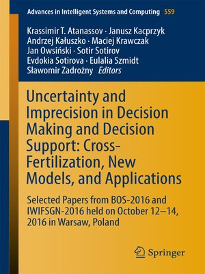cover image of Uncertainty and Imprecision in Decision Making and Decision Support