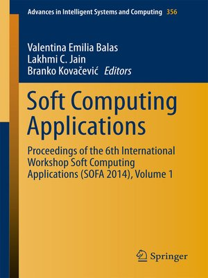cover image of Soft Computing Applications