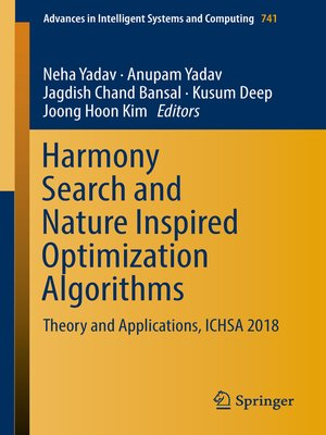 cover image of Harmony Search and Nature Inspired Optimization Algorithms