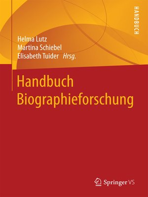 cover image of Handbuch Biographieforschung