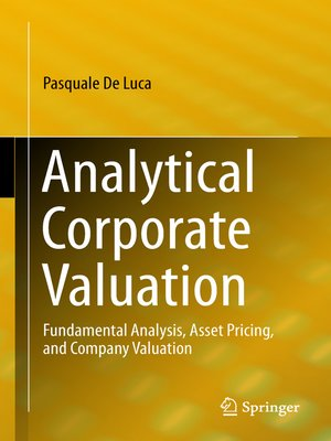 cover image of Analytical Corporate Valuation