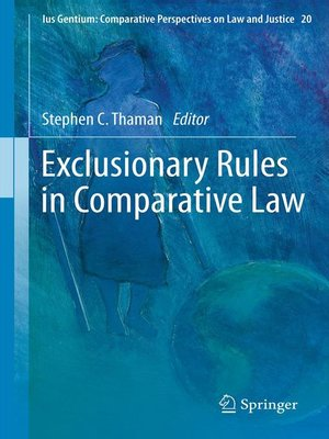 cover image of Exclusionary Rules in Comparative Law