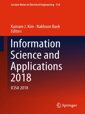 cover image of Information Science and Applications 2018