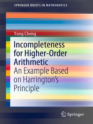 cover image of Incompleteness for Higher-Order Arithmetic