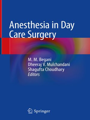 cover image of Anesthesia in Day Care Surgery