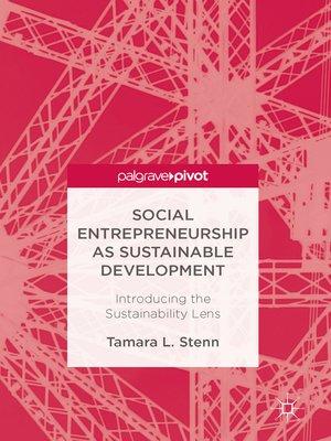 cover image of Social Entrepreneurship as Sustainable Development