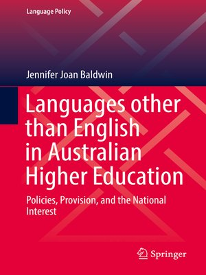 cover image of Languages other than English in Australian Higher Education