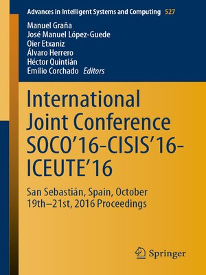 cover image of International Joint Conference SOCO'16-CISIS'16-ICEUTE'16