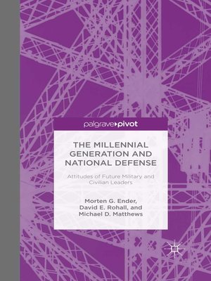 cover image of The Millennial Generation and National Defense