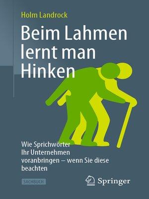 cover image of Beim Lahmen lernt man Hinken