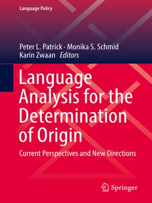 cover image of Language Analysis for the Determination of Origin