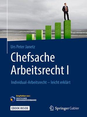 cover image of Chefsache Arbeitsrecht I