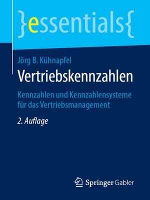 cover image of Vertriebskennzahlen