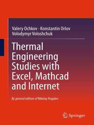 cover image of Thermal Engineering Studies with Excel, Mathcad and Internet