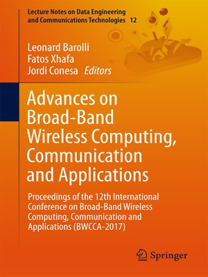 cover image of Advances on Broad-Band Wireless Computing, Communication and Applications