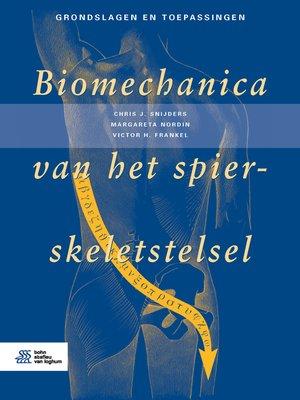 cover image of Biomechanica van het spier-skeletstelsel