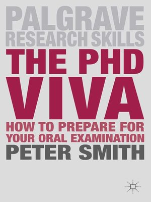 cover image of The PhD Viva