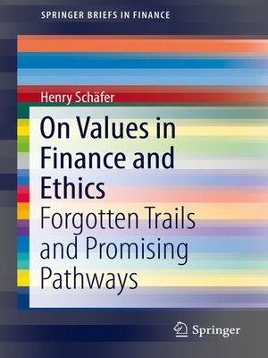 cover image of On Values in Finance and Ethics