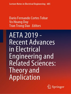 cover image of AETA 2019--Recent Advances in Electrical Engineering and Related Sciences