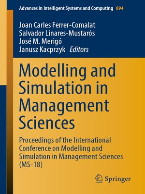 cover image of Modelling and Simulation in Management Sciences