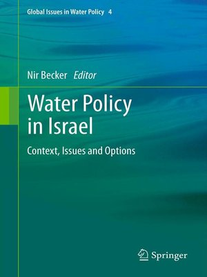 cover image of Water Policy in Israel