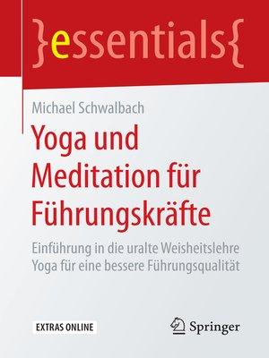 cover image of Yoga und Meditation für Führungskräfte