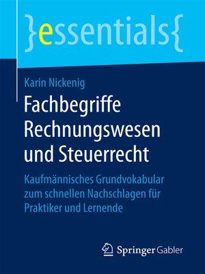 cover image of Fachbegriffe Rechnungswesen und Steuerrecht