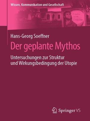 cover image of Der geplante Mythos