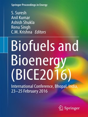 cover image of Biofuels and Bioenergy (BICE2016)