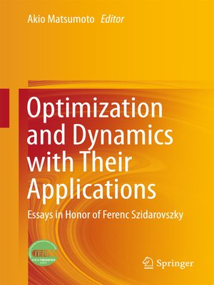 cover image of Optimization and Dynamics with Their Applications