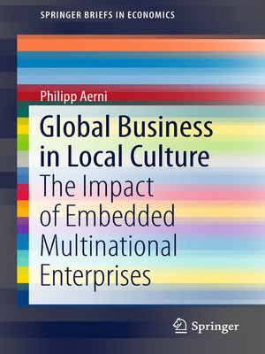 cover image of Global Business in Local Culture