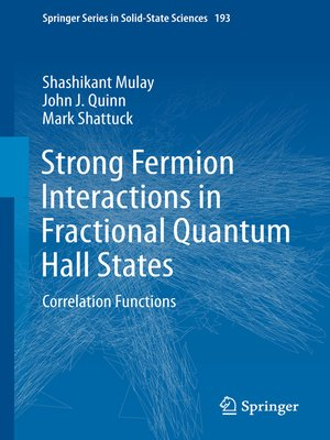 cover image of Strong Fermion Interactions in Fractional Quantum Hall States