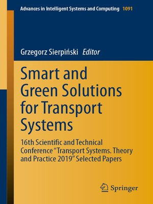 cover image of Smart and Green Solutions for Transport Systems