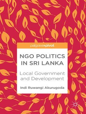 cover image of NGO Politics in Sri Lanka