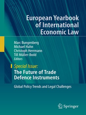 cover image of The Future of Trade Defence Instruments